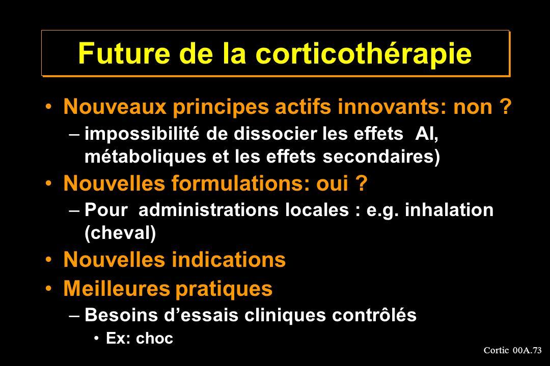 Future de la corticothérapie