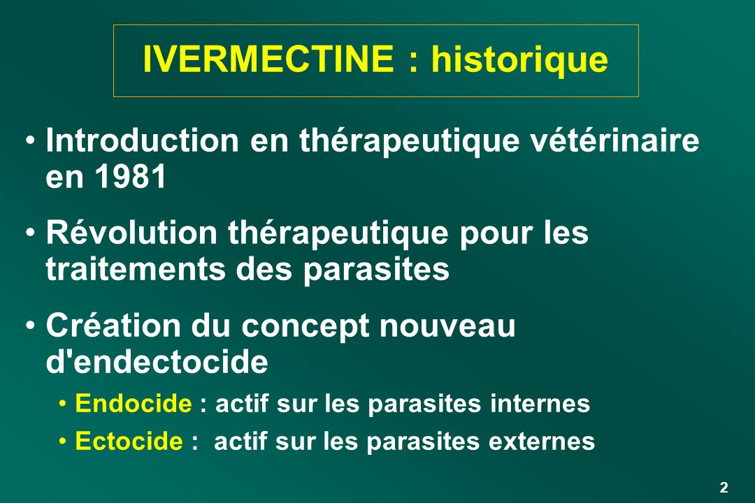 IVERMECTINE : historique