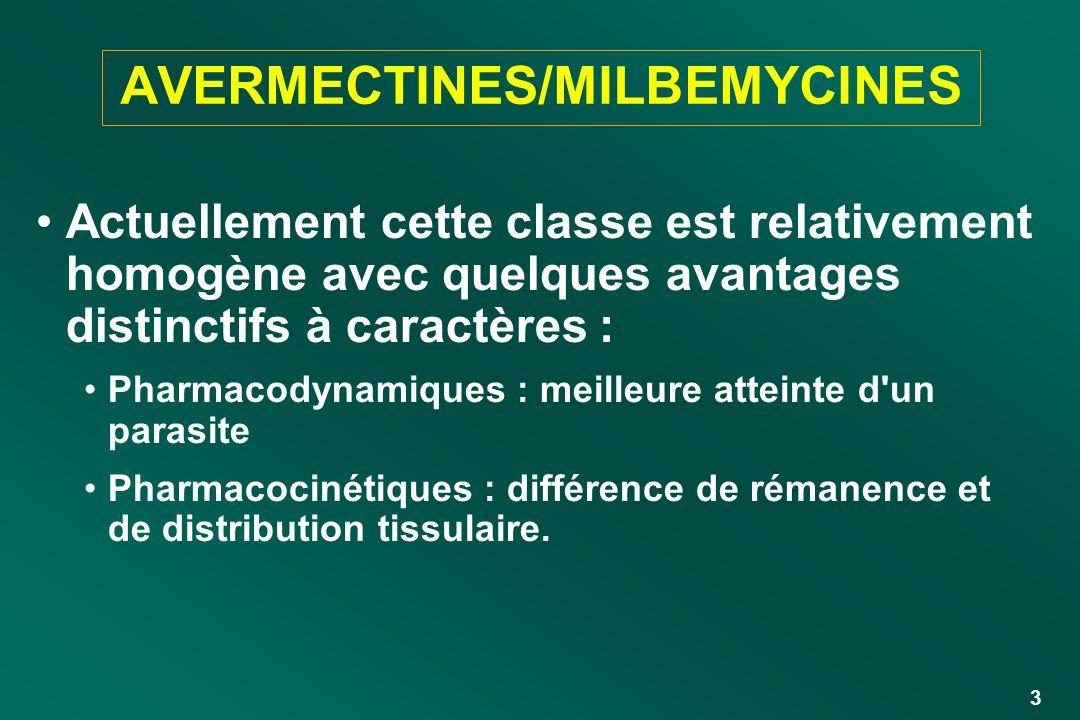AVERMECTINES/MILBEMYCINES