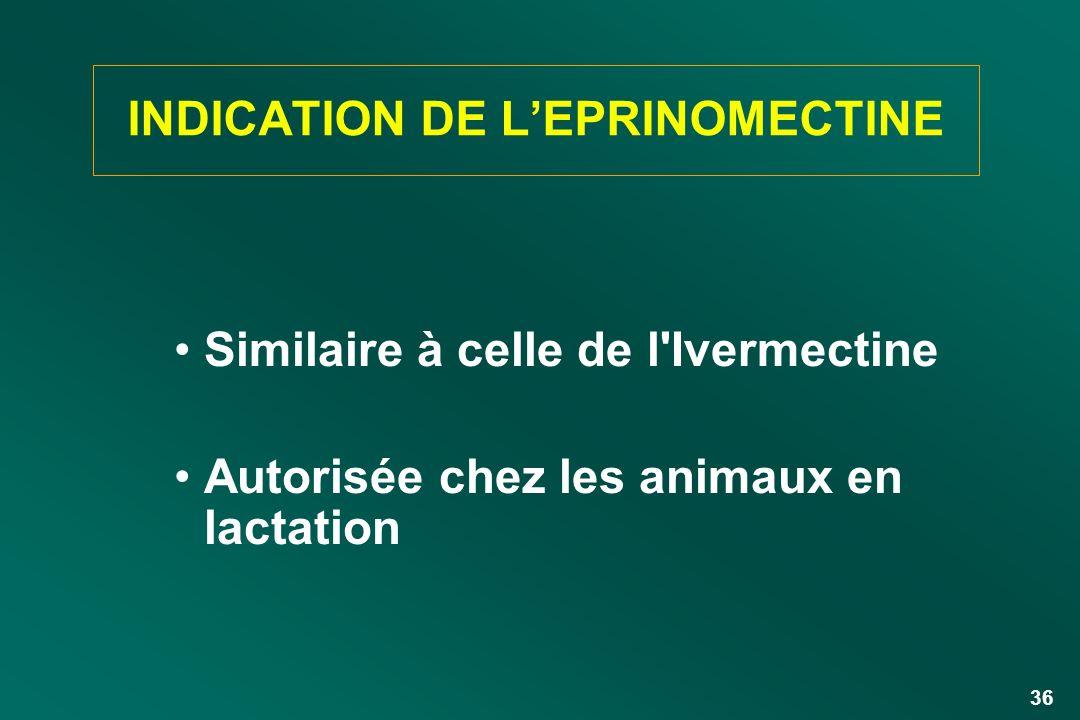 INDICATION DE L'EPRINOMECTINE