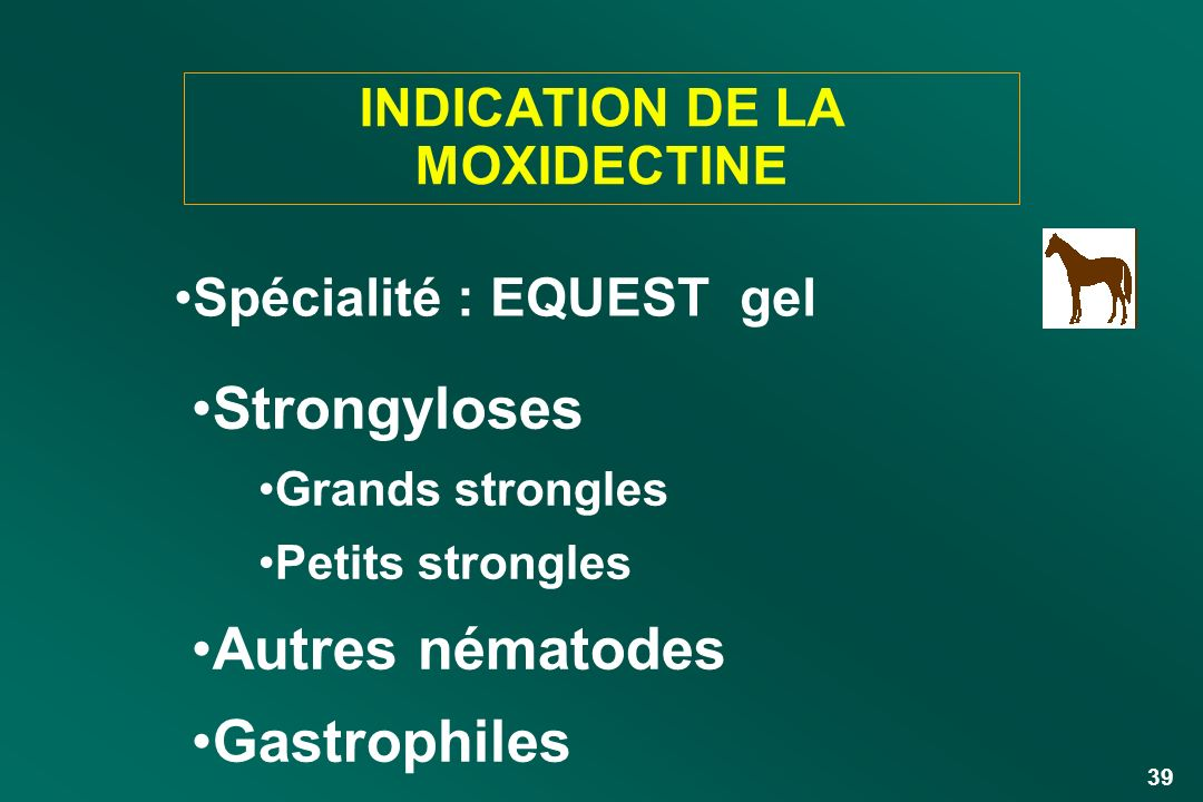 INDICATION DE LA MOXIDECTINE