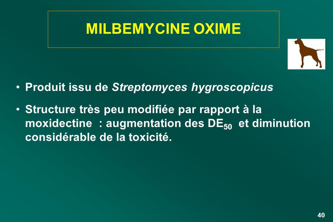 MILBEMYCINE OXIME Produit issu de Streptomyces hygroscopicus