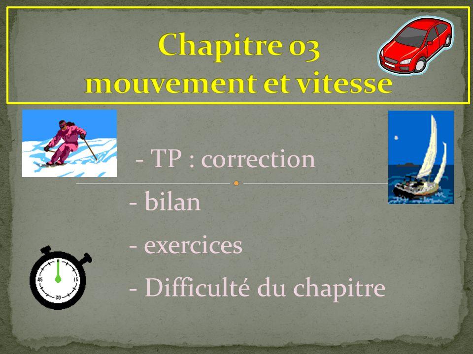 Chapitre 03 mouvement et vitesse