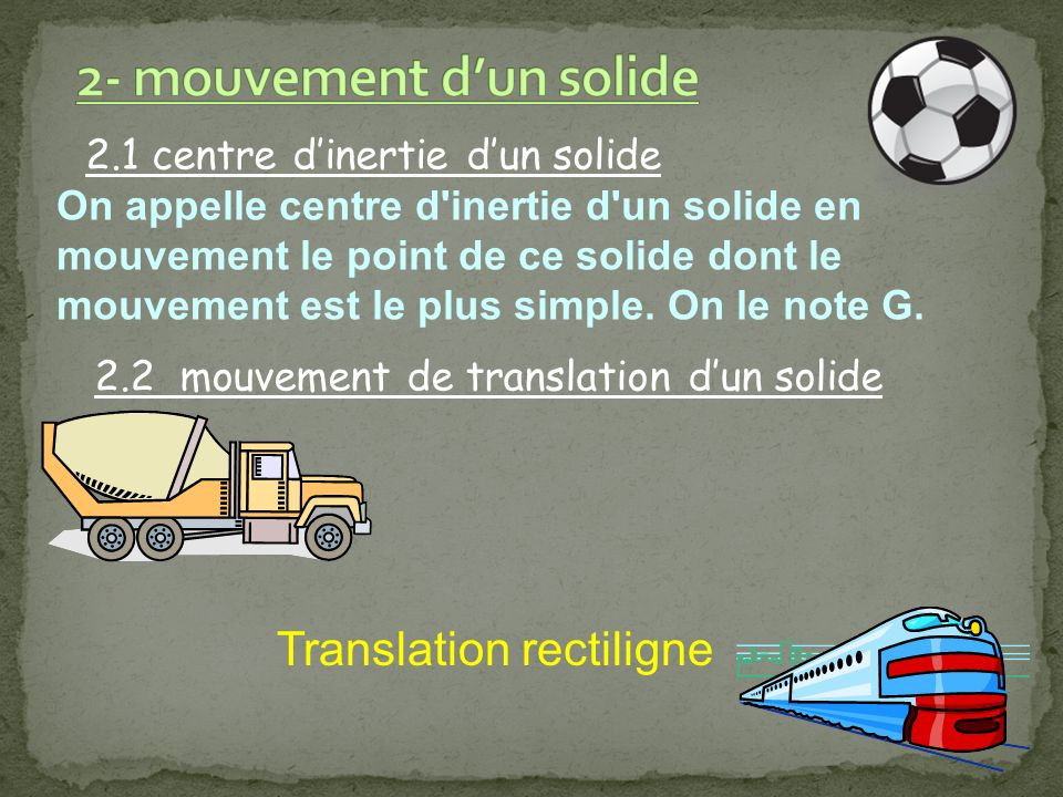 2- mouvement d'un solide