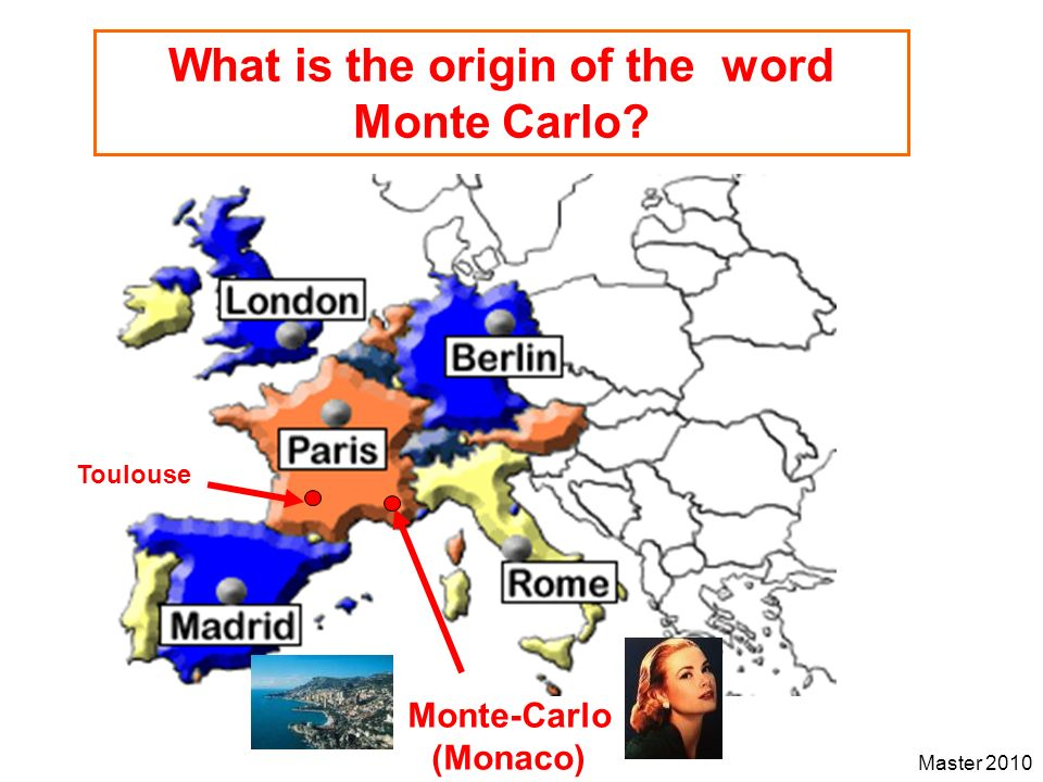 What is the origin of the word Monte Carlo