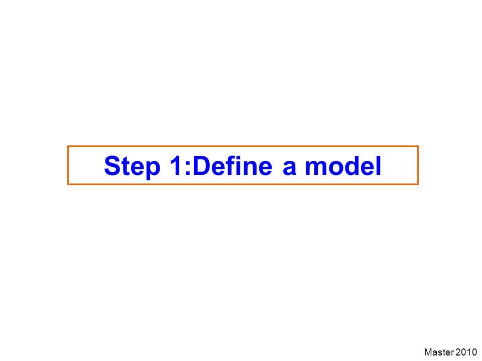 Step 1:Define a model