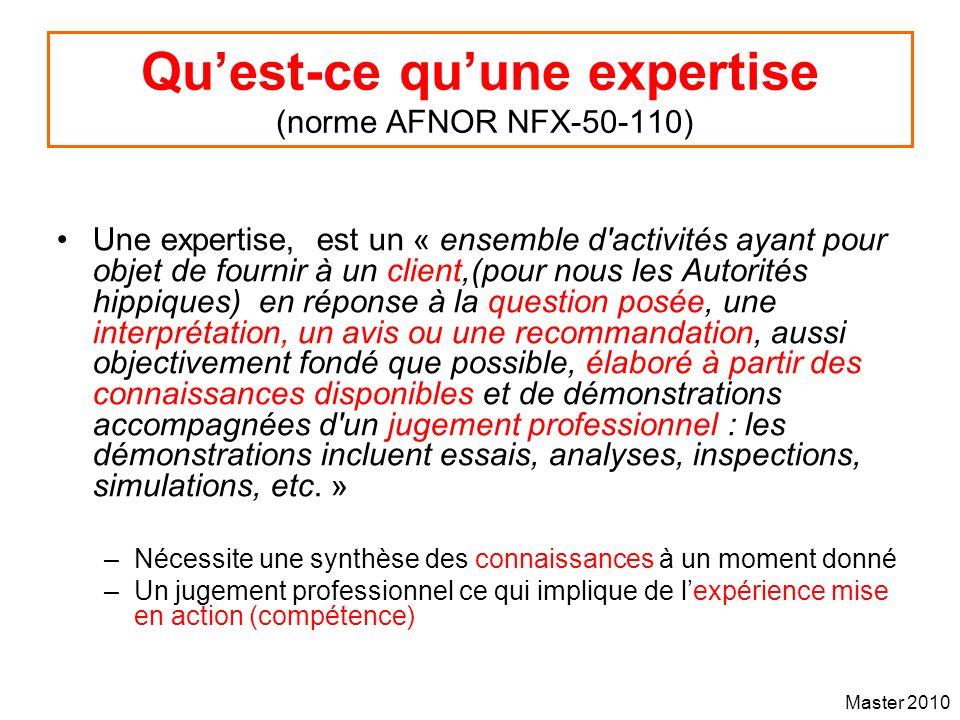 Qu'est-ce qu'une expertise (norme AFNOR NFX-50-110)