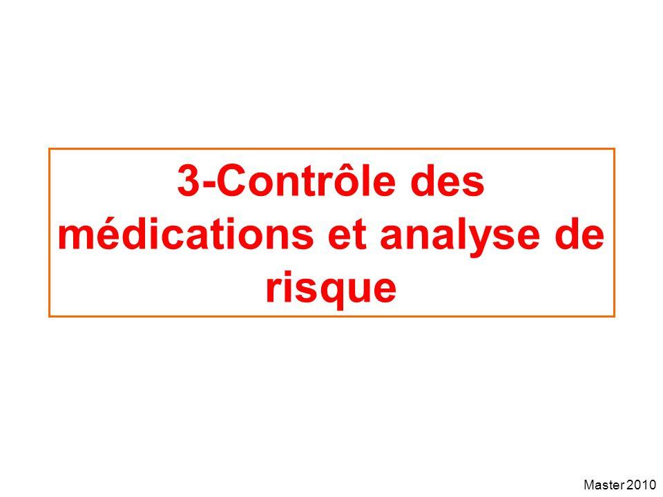 3-Contrôle des médications et analyse de risque