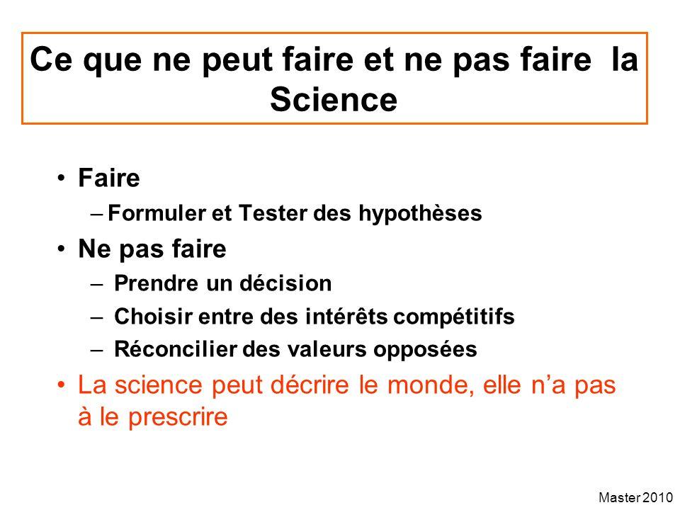 Ce que ne peut faire et ne pas faire la Science