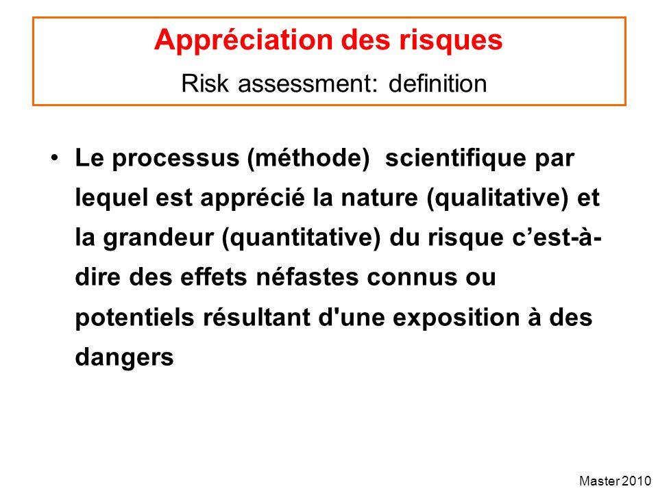 Appréciation des risques Risk assessment: definition