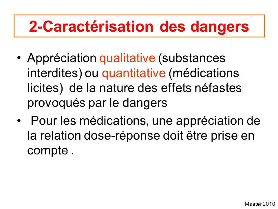 2-Caractérisation des dangers