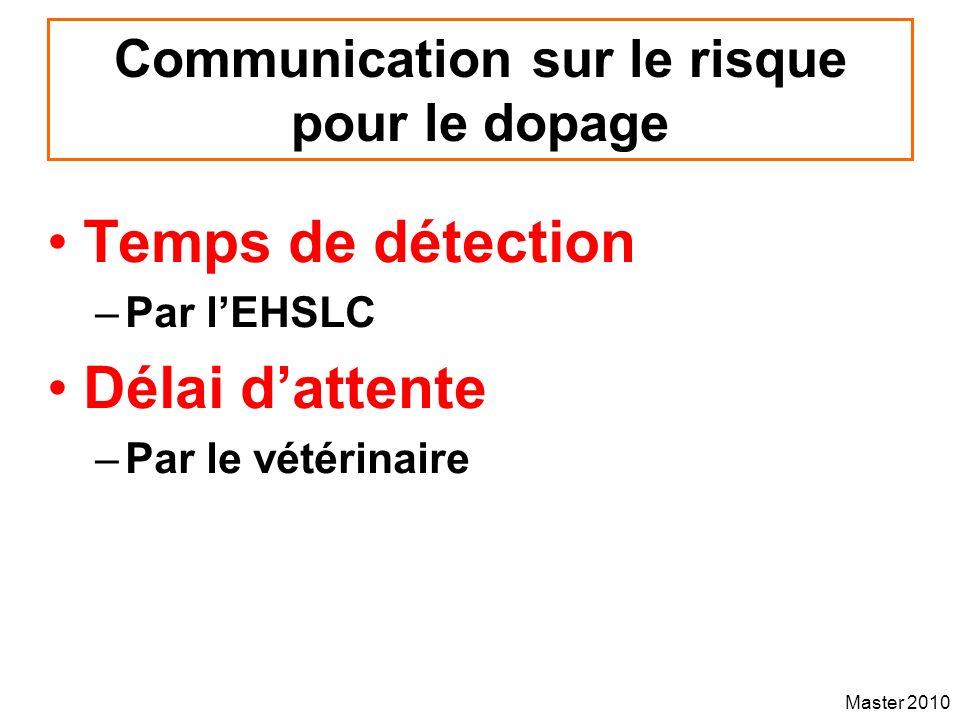Communication sur le risque pour le dopage