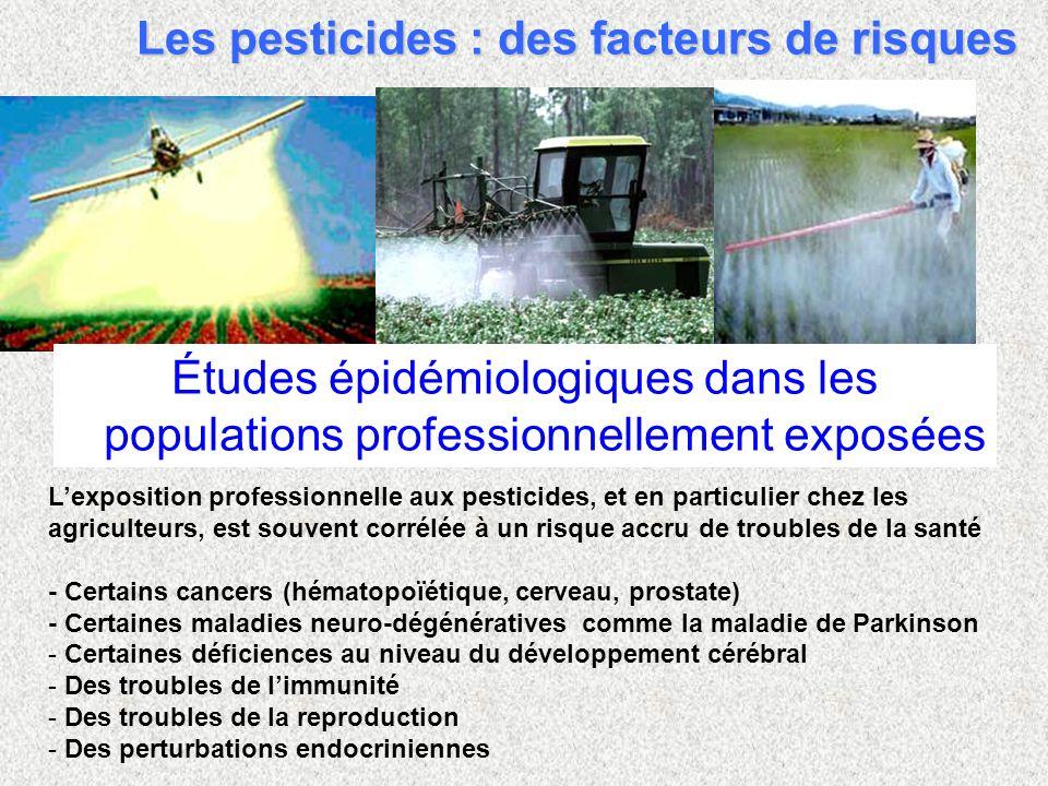 Les pesticides : des facteurs de risques