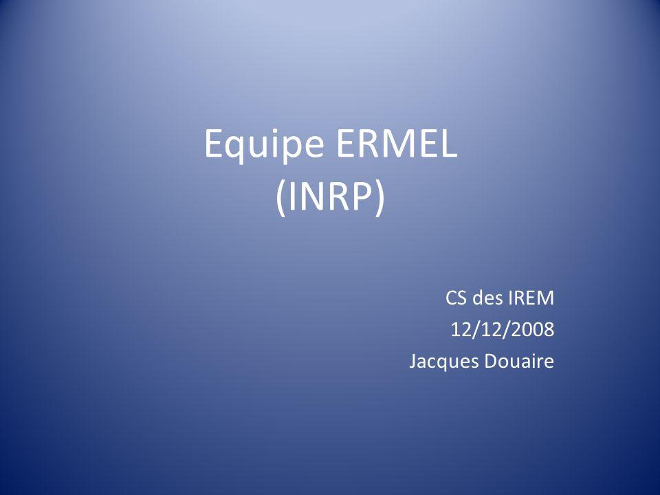 CS des IREM 12/12/2008 Jacques Douaire