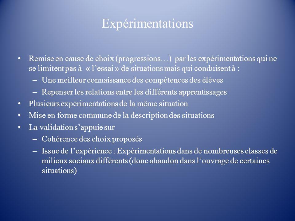 Expérimentations
