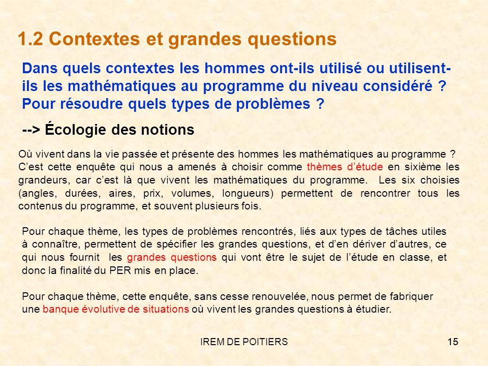 1.2 Contextes et grandes questions