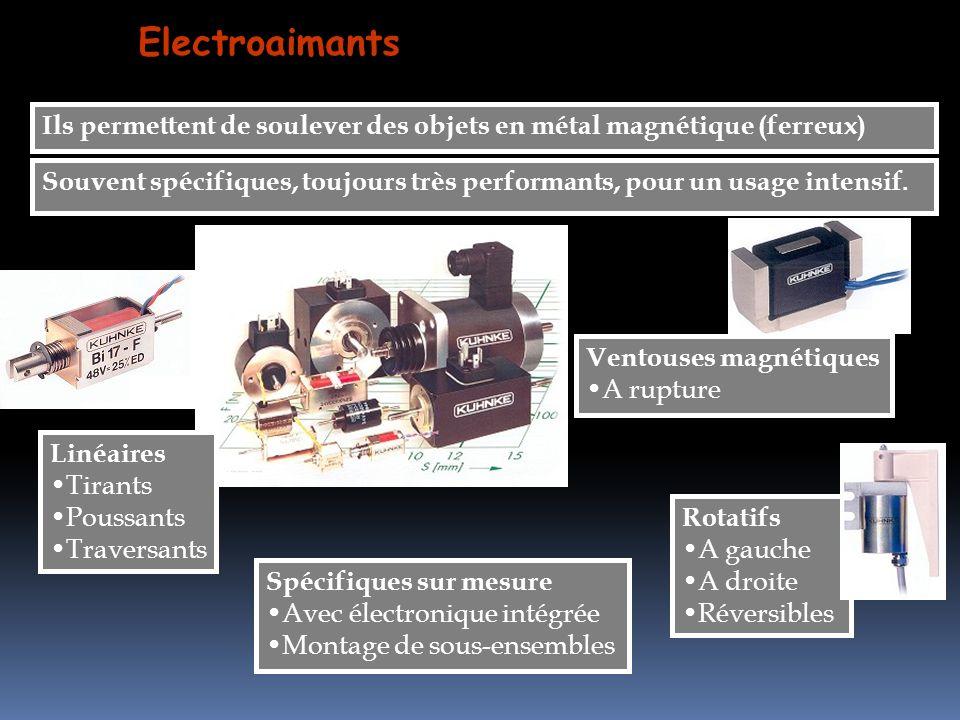 Electroaimants Ils permettent de soulever des objets en métal magnétique (ferreux)