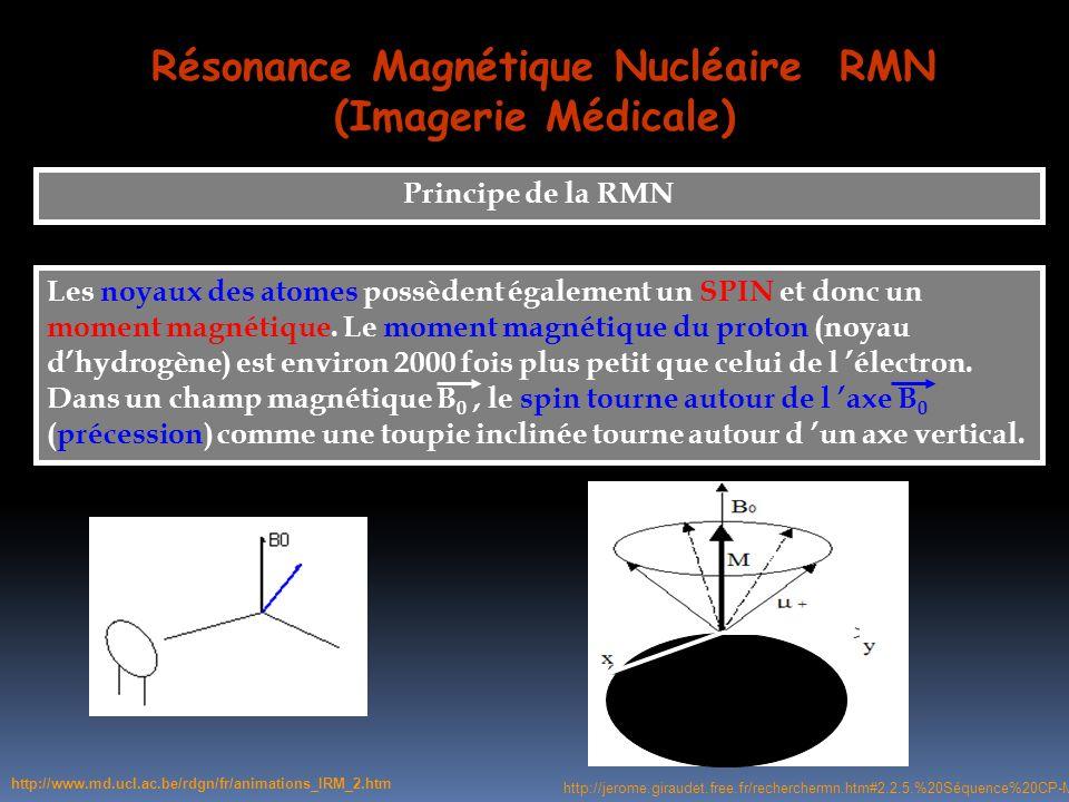 Résonance Magnétique Nucléaire RMN (Imagerie Médicale)