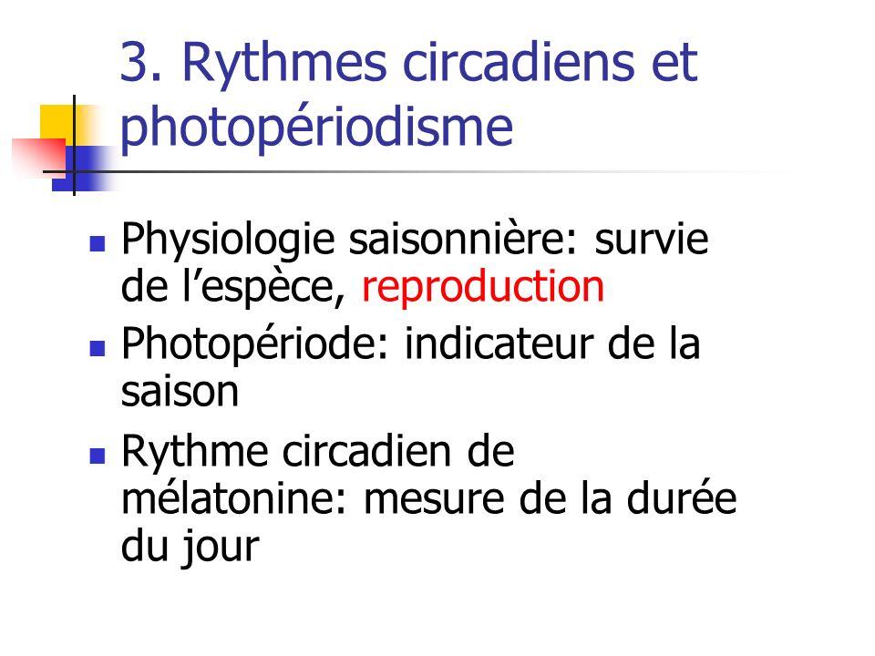3. Rythmes circadiens et photopériodisme