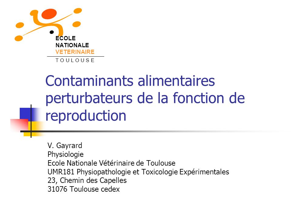 Contaminants alimentaires perturbateurs de la fonction de reproduction