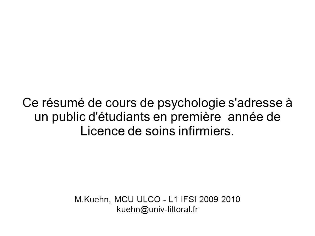 L1 IFSI UE 11.S1 2009-2010 CM1 M. Kuehn, MCU ULCO.