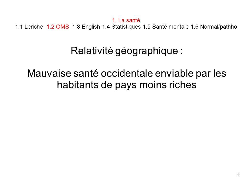 Relativité géographique :