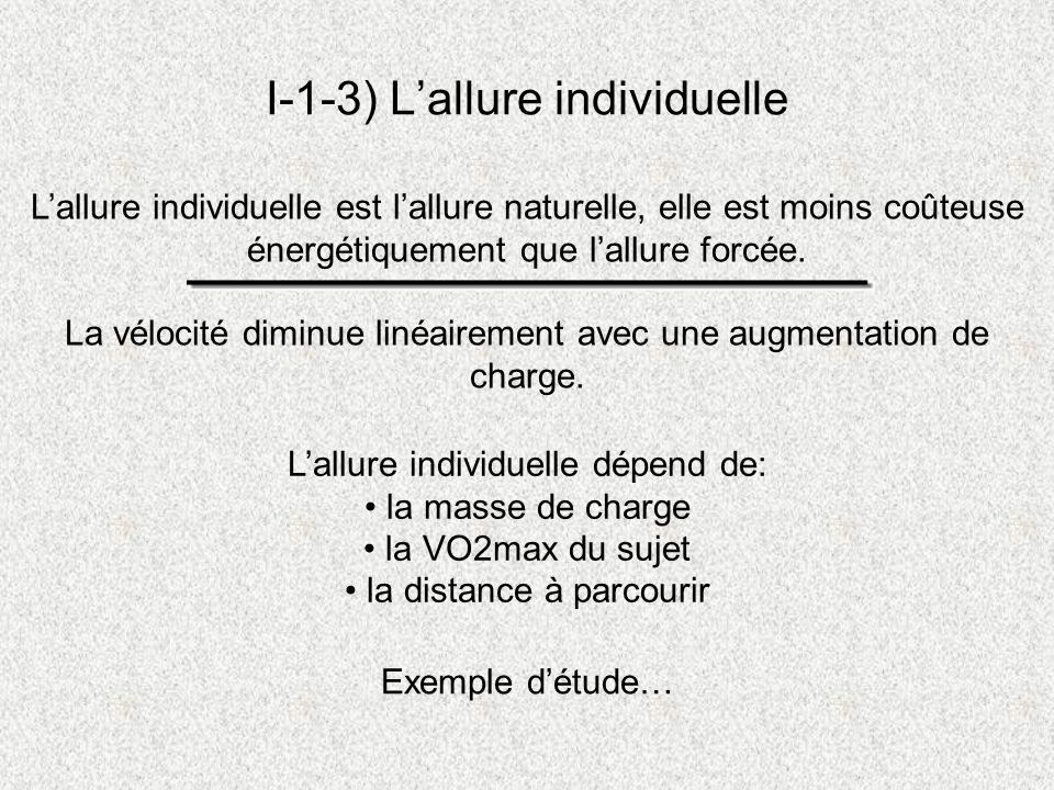 I-1-3) L'allure individuelle