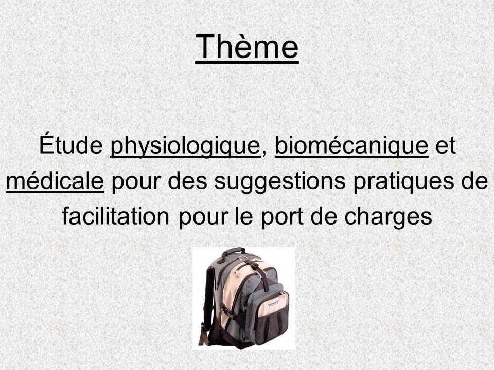 Thème Étude physiologique, biomécanique et