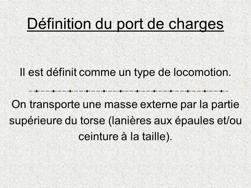 Définition du port de charges
