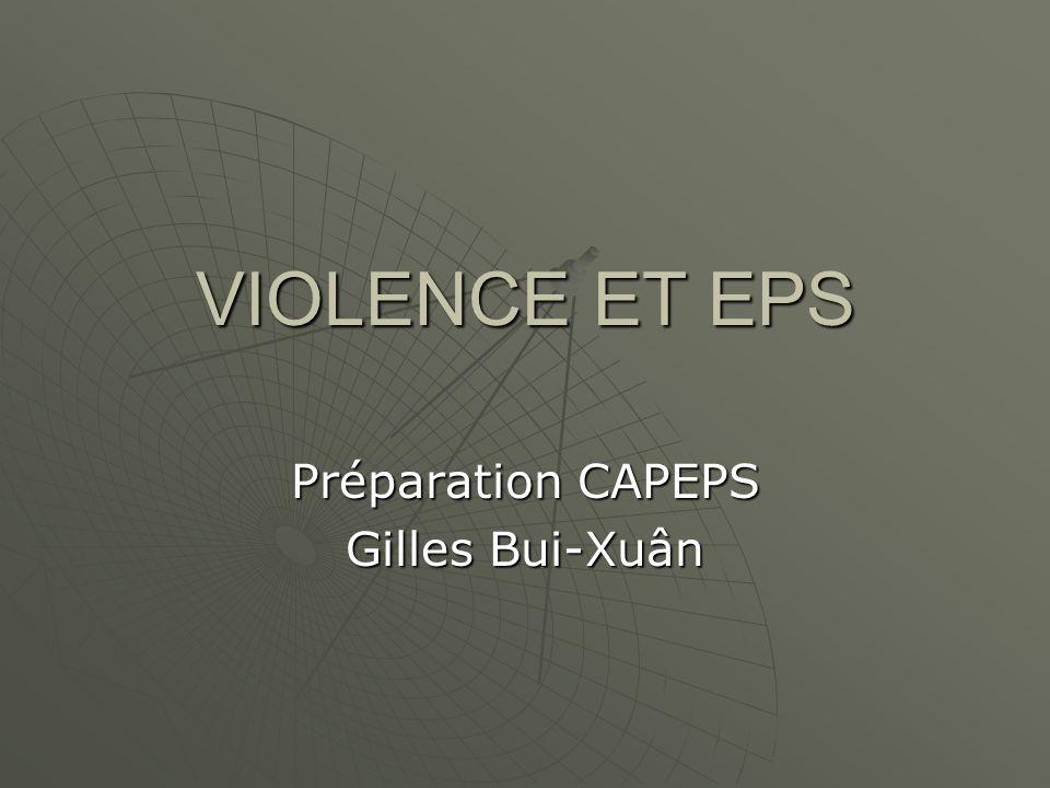 Préparation CAPEPS Gilles Bui-Xuân