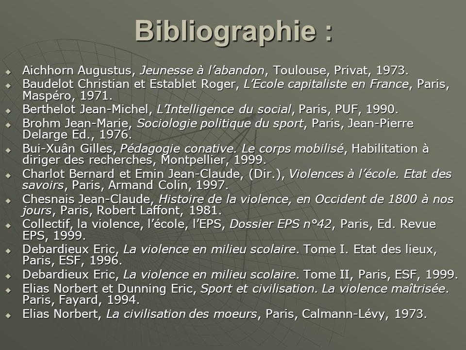 Bibliographie : Aichhorn Augustus, Jeunesse à l'abandon, Toulouse, Privat, 1973.