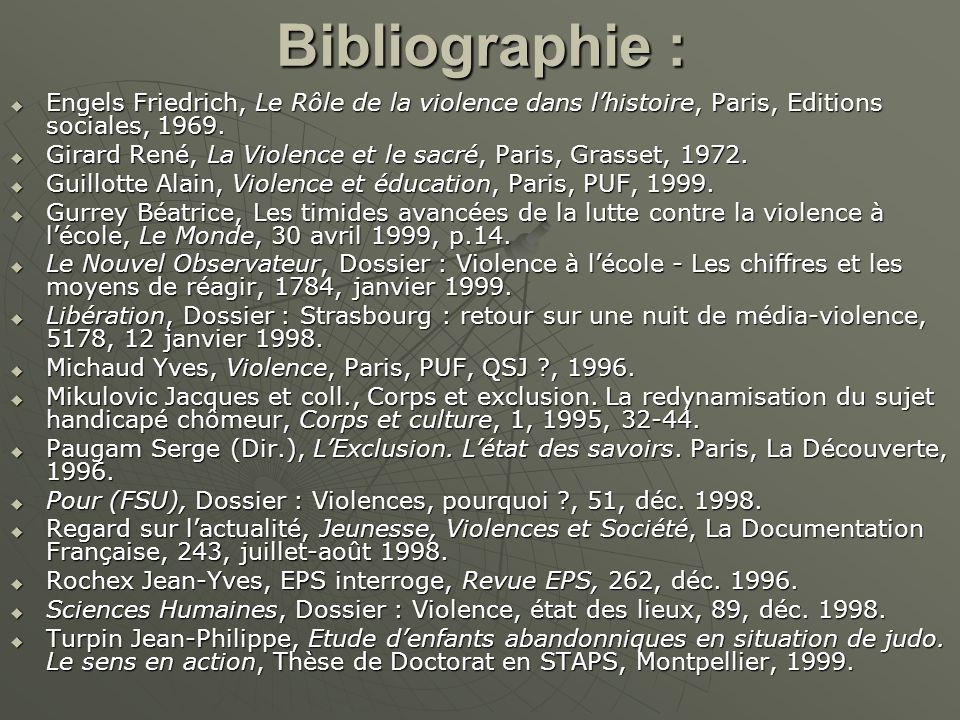 Bibliographie : Engels Friedrich, Le Rôle de la violence dans l'histoire, Paris, Editions sociales, 1969.