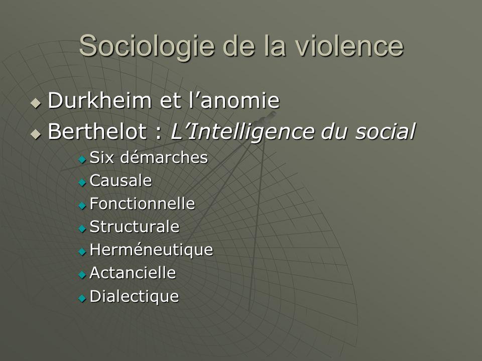 Sociologie de la violence