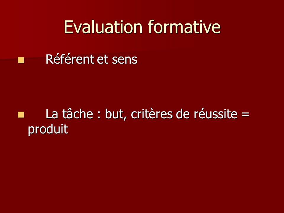 Evaluation formative Référent et sens
