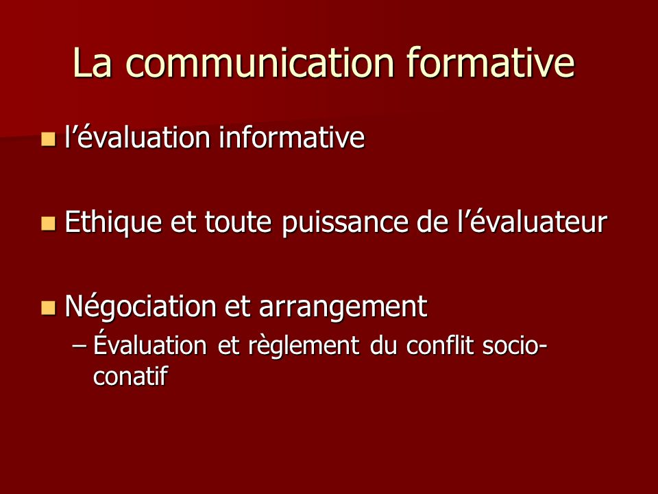 La communication formative