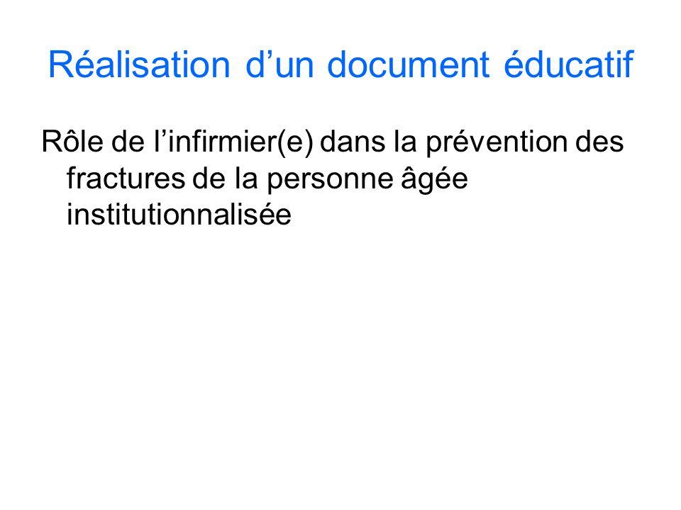 Réalisation d'un document éducatif