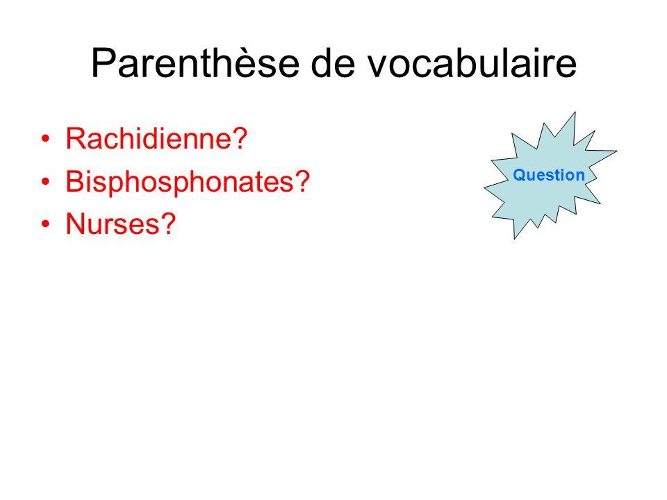 Parenthèse de vocabulaire