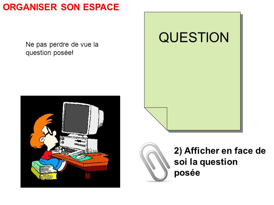 QUESTION ORGANISER SON ESPACE