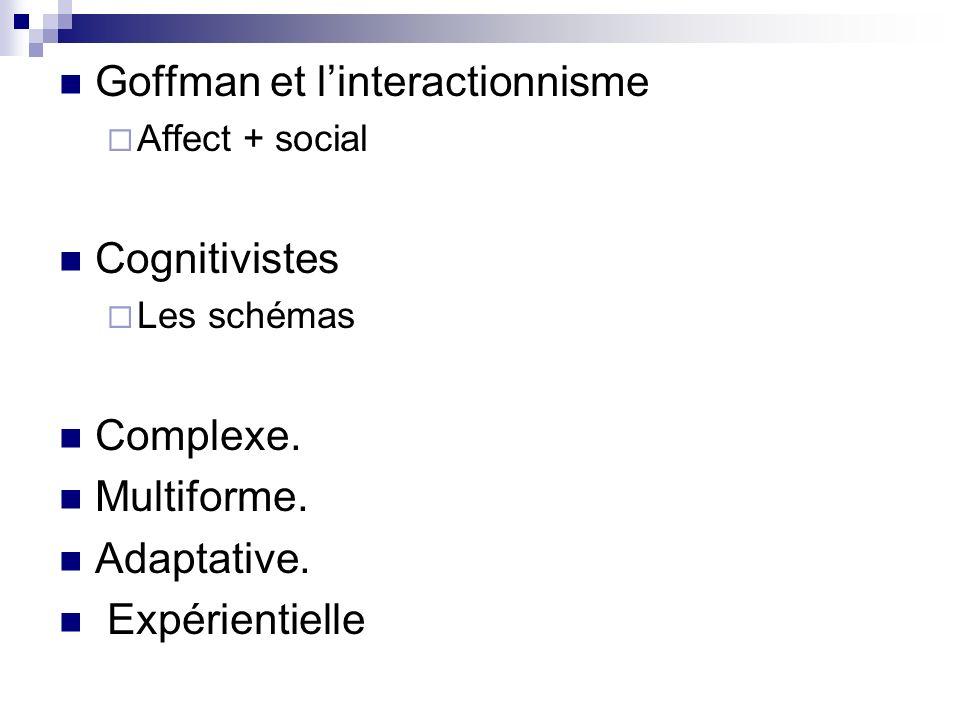 Goffman et l'interactionnisme