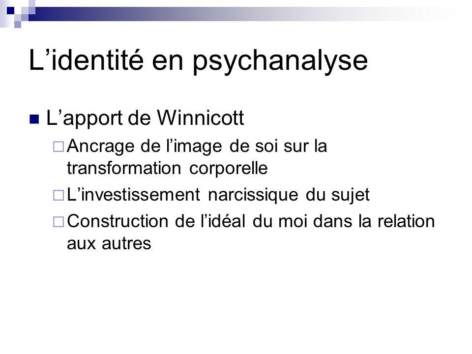 L'identité en psychanalyse
