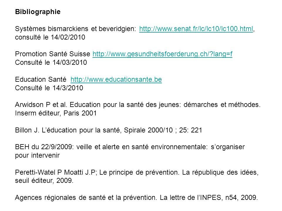Bibliographie Systèmes bismarckiens et beveridgien: http://www.senat.fr/lc/lc10/lc100.html, consulté le 14/02/2010.