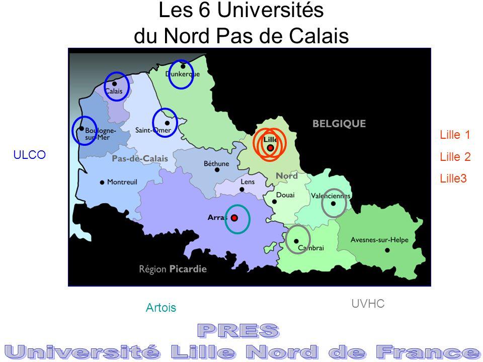Les 6 Universités du Nord Pas de Calais