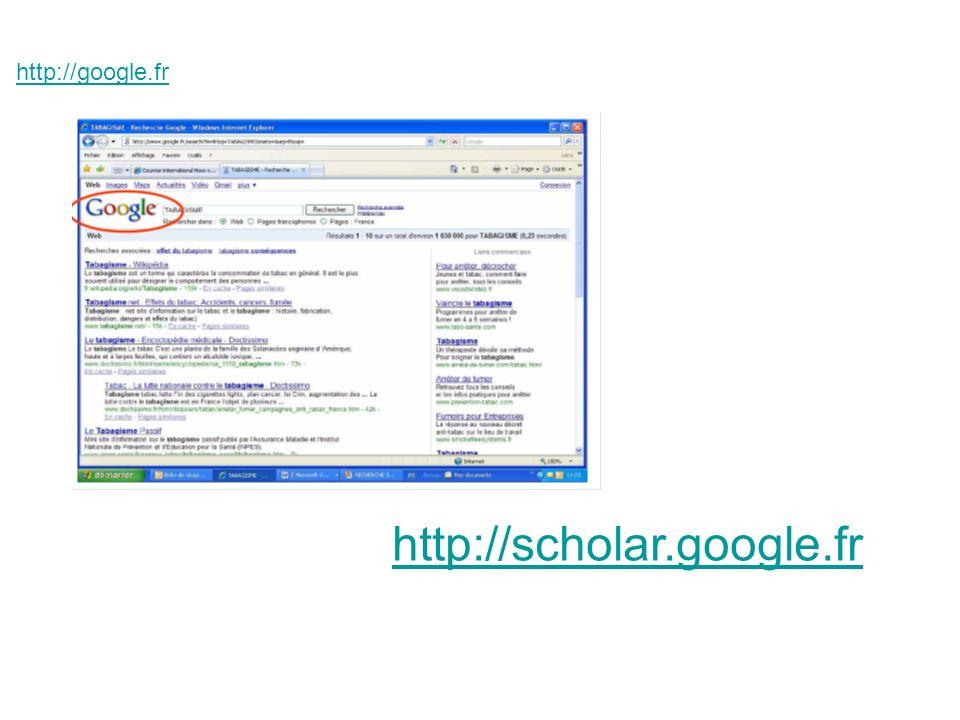 http://google.fr http://scholar.google.fr