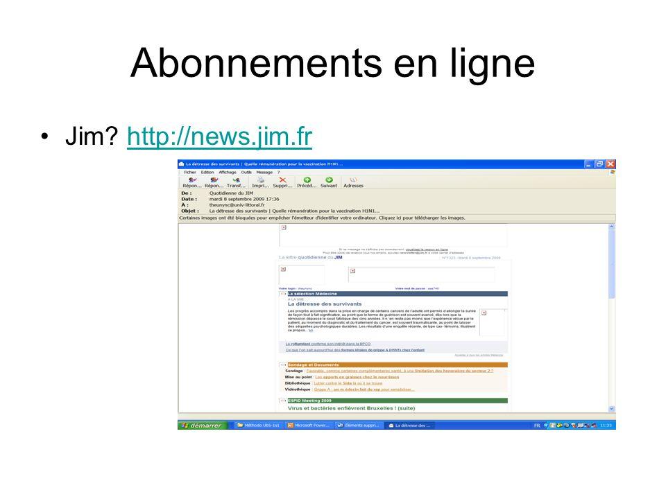 Abonnements en ligne Jim http://news.jim.fr