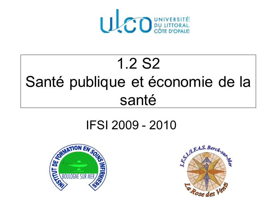 1.2 S2 Santé publique et économie de la santé
