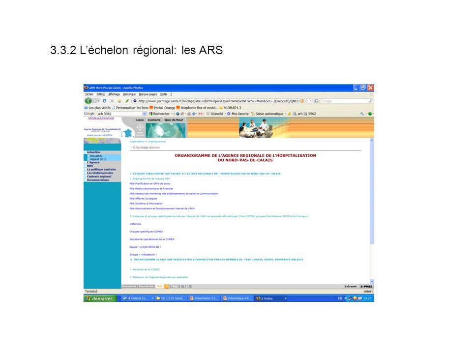 3.3.2 L'échelon régional: les ARS