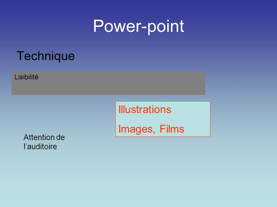 Power-point Technique Illustrations Images, Films