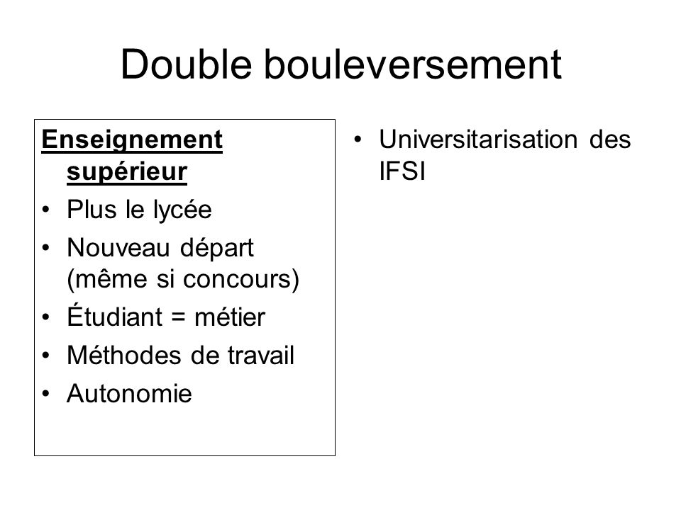 Double bouleversement