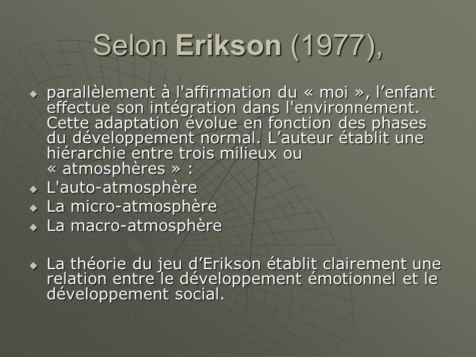 Selon Erikson (1977),