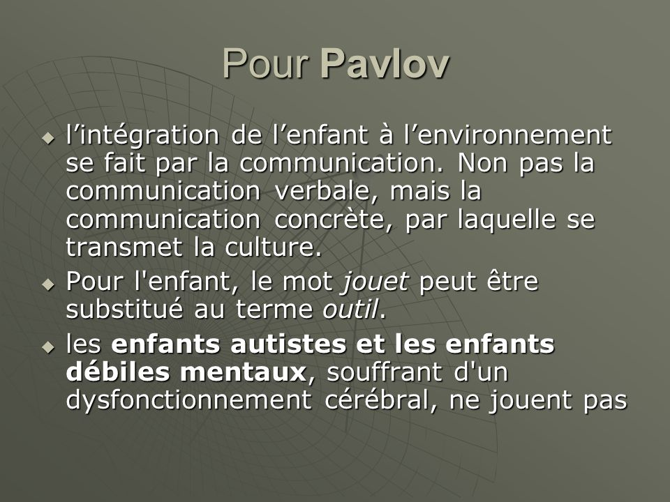 Pour Pavlov